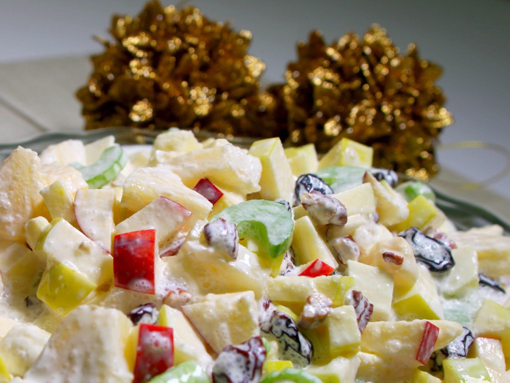 Ensalada de manzana navidena lechera