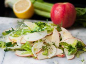 receta ensalada de manzana y apio