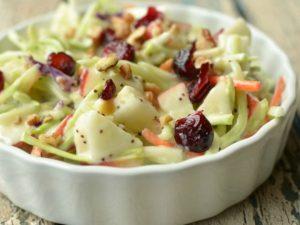 receta de ensalada de repollo y manzana